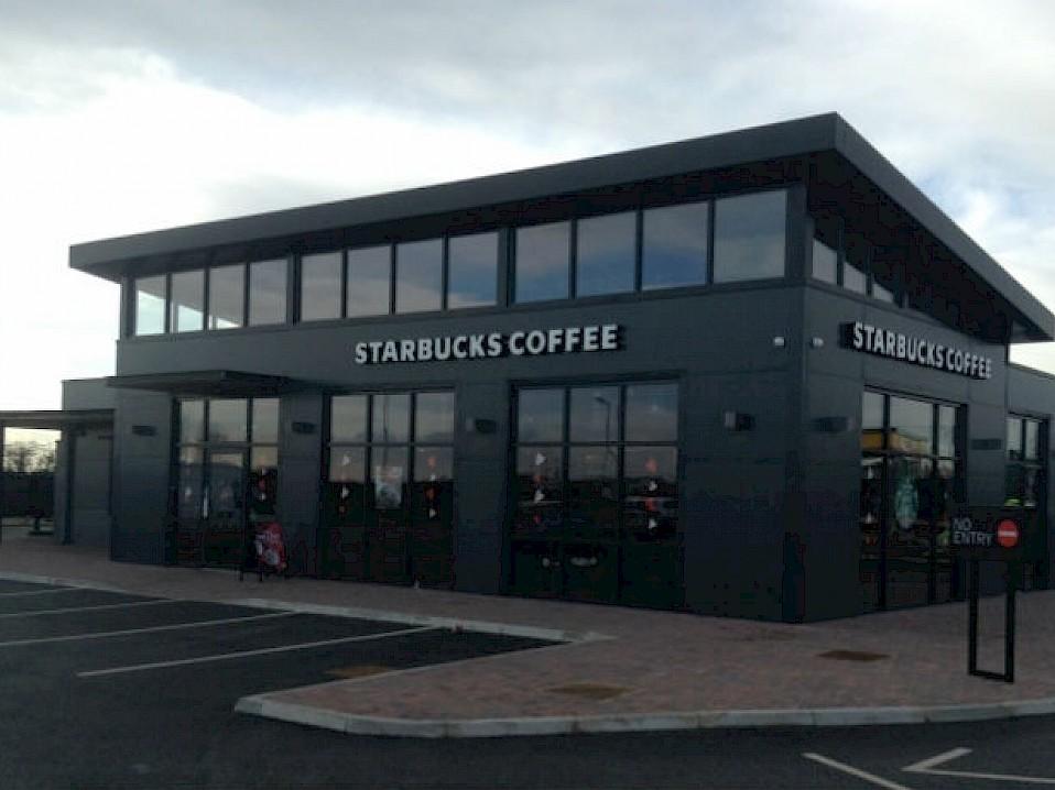 Project: Starbucks, Pocklington Services, East Yorkshire